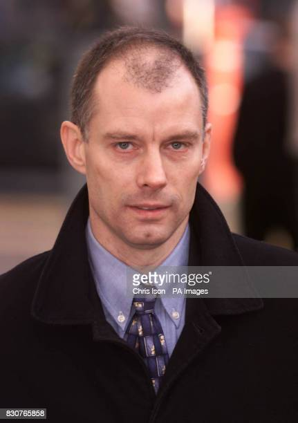 Forensic scientist Ray Chapman arrives at Lewes Crown Court in East Sussex to give evidence at the trial of Roy Whiting who is charged with the...