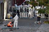 Forensics of the French police are at work in the northern Paris suburb of SaintDenis on November 18 after French Police special forces raided an...