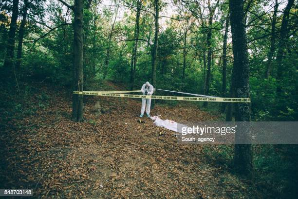 Forensics working hard in forest