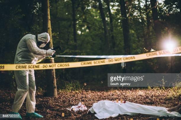 Forensics working hard