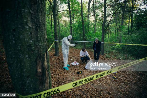 Forensics working on a crime