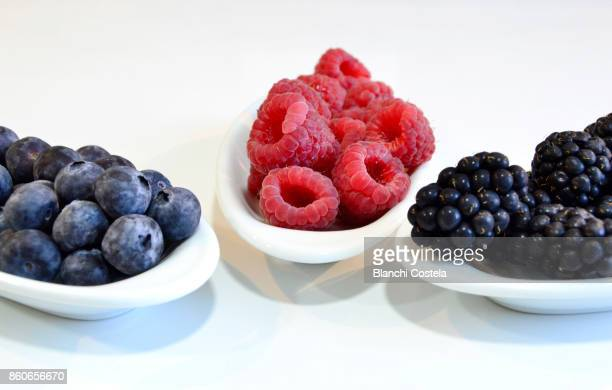 Forest berries on small dishes