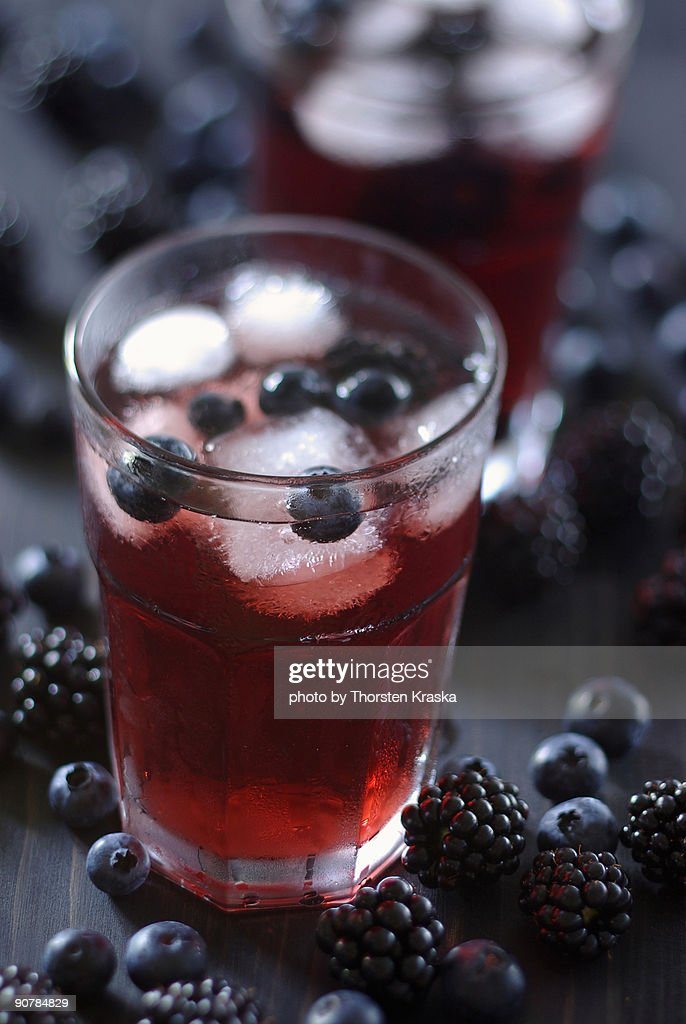 Forest Berry Ice Tea : Stock Photo