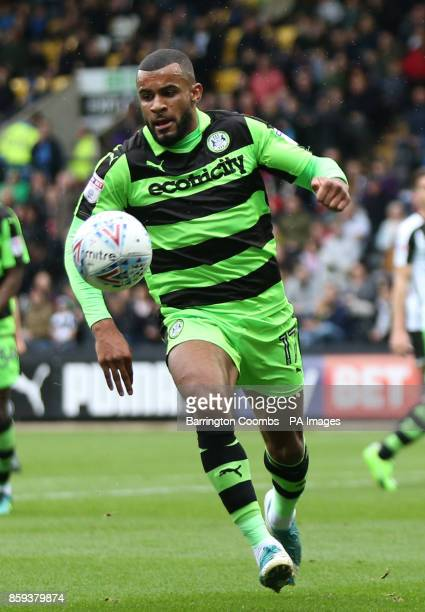 Forest Green Rovers' Daniel Wishart during the match at Meadow Lane Nottingham