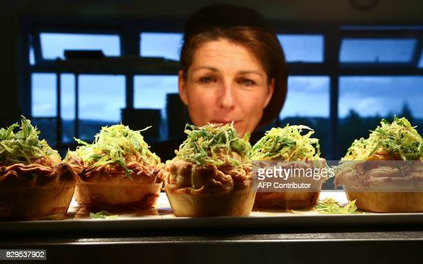 Forest Green Rover's head chef Em Franklin prepares vegan ahead of the EFL Cup football match between Forest Green Rovers and MK Dons at The New Lawn...