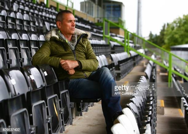 Forest Green Rovers owner Dale Vince poses for a photograph in the stands ahead of the EFL Cup football match between Forest Green Rovers and MK Dons...
