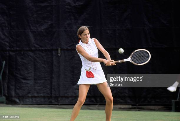 Forest Hills Queens New York New York Chris Evert displays the winning form that has carried her into the quarterfinals of the US Open tennis...
