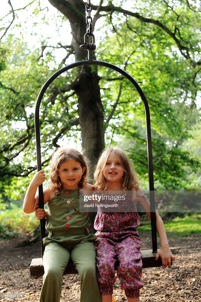 Forest swing : Stock Photo