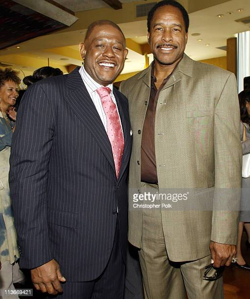 Forest Whitaker and Dave Winfield during Forest Whitaker Honored with a Star on the Hollywood Walk of Fame Luncheon at Vert in Los Angeles California...