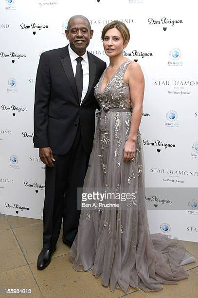 Forest Whitaker and Ella Krasner attends the PeaceEarth foundation fundraising gala at Banqueting House on November 10 2012 in London England