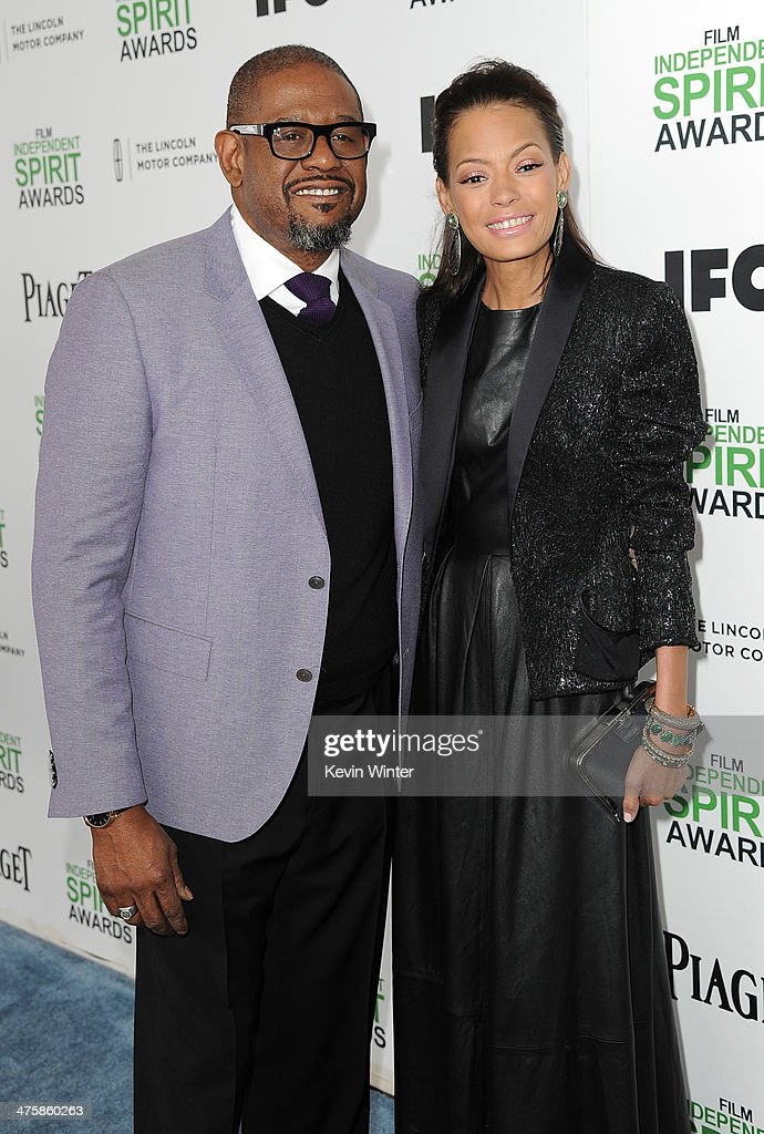 <a gi-track='captionPersonalityLinkClicked' href=/galleries/search?phrase=Forest+Whitaker&family=editorial&specificpeople=226590 ng-click='$event.stopPropagation()'>Forest Whitaker</a> and Keisha Nash Whitaker attend the 2014 Film Independent Spirit Awards at Santa Monica Beach on March 1, 2014 in Santa Monica, California.
