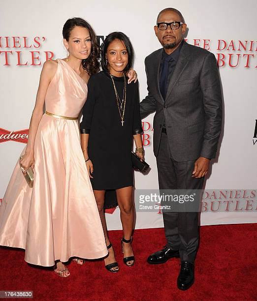 Forest Whitaker and Keisha Whitaker arrives at the 'Lee Daniels' The Butler' Los Angeles Premiere at Regal Cinemas LA Live on August 12 2013 in Los...