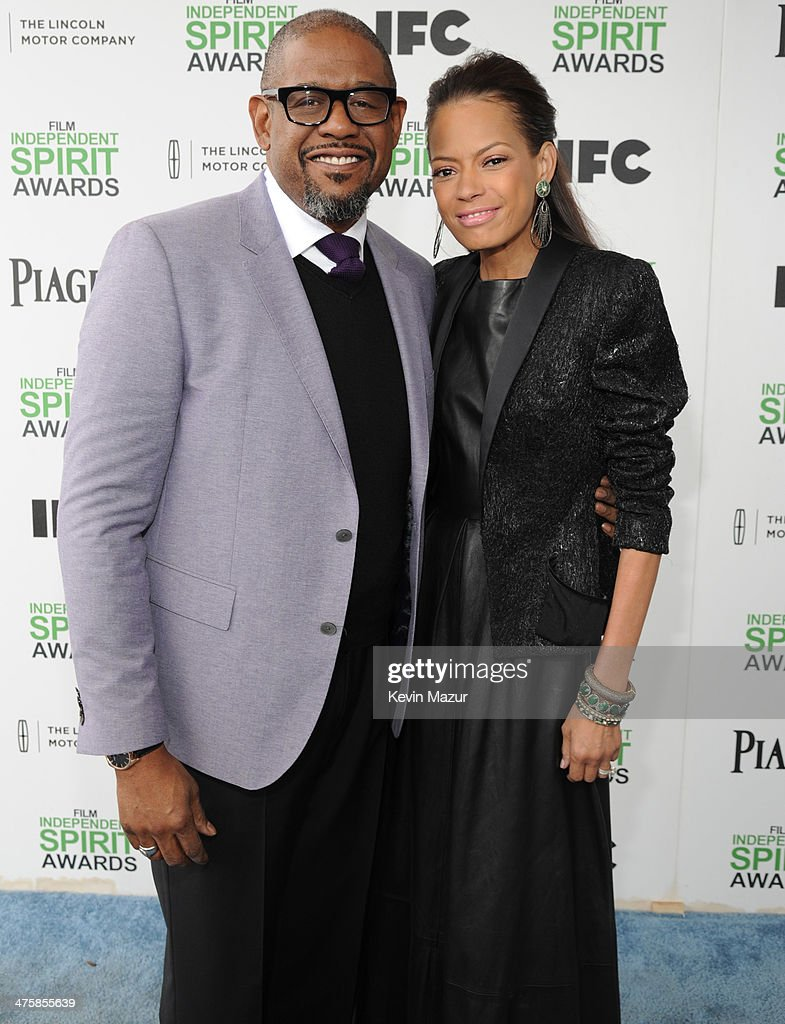 <a gi-track='captionPersonalityLinkClicked' href=/galleries/search?phrase=Forest+Whitaker&family=editorial&specificpeople=226590 ng-click='$event.stopPropagation()'>Forest Whitaker</a> and <a gi-track='captionPersonalityLinkClicked' href=/galleries/search?phrase=Keisha+Whitaker&family=editorial&specificpeople=662393 ng-click='$event.stopPropagation()'>Keisha Whitaker</a> attend the 2014 Film Independent Spirit Awards at Santa Monica Beach on March 1, 2014 in Santa Monica, California.