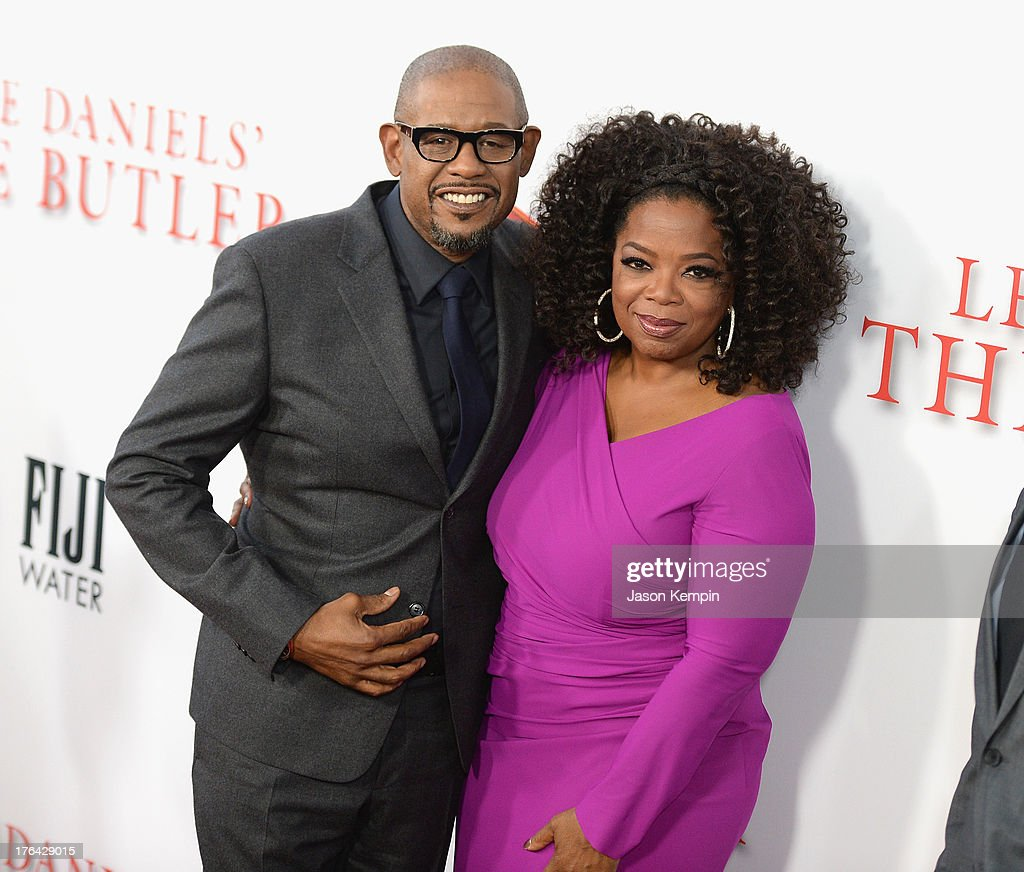 <a gi-track='captionPersonalityLinkClicked' href=/galleries/search?phrase=Forest+Whitaker&family=editorial&specificpeople=226590 ng-click='$event.stopPropagation()'>Forest Whitaker</a> and <a gi-track='captionPersonalityLinkClicked' href=/galleries/search?phrase=Oprah+Winfrey&family=editorial&specificpeople=171750 ng-click='$event.stopPropagation()'>Oprah Winfrey</a> attend the Los Angeles premiere of 'Lee Daniels' The Butler' at Regal Cinemas L.A. Live on August 12, 2013 in Los Angeles, California.