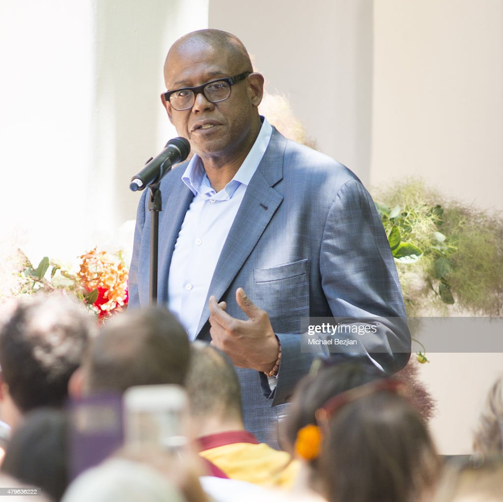 Forest Whitaker attends Peak Mind Foundation Hosts A Talk With His Holiness The 14th Dalai Lama at Rancho Las Lomas on July 4, 2015 in Silverado Canyon, California.