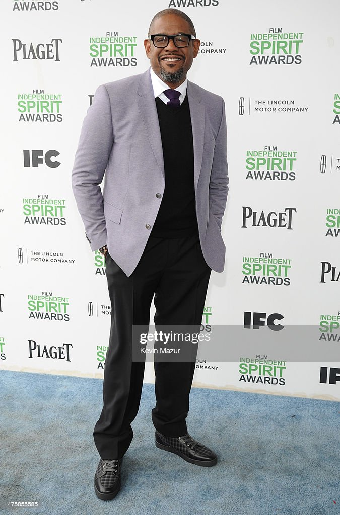 <a gi-track='captionPersonalityLinkClicked' href=/galleries/search?phrase=Forest+Whitaker&family=editorial&specificpeople=226590 ng-click='$event.stopPropagation()'>Forest Whitaker</a> attends the 2014 Film Independent Spirit Awards at Santa Monica Beach on March 1, 2014 in Santa Monica, California.