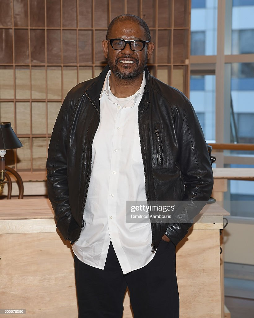 Forest Whitaker attends the 'Hughie' Broadway Cast Photocall at The New 42nd Street Studios on January 19 2016 in New York City