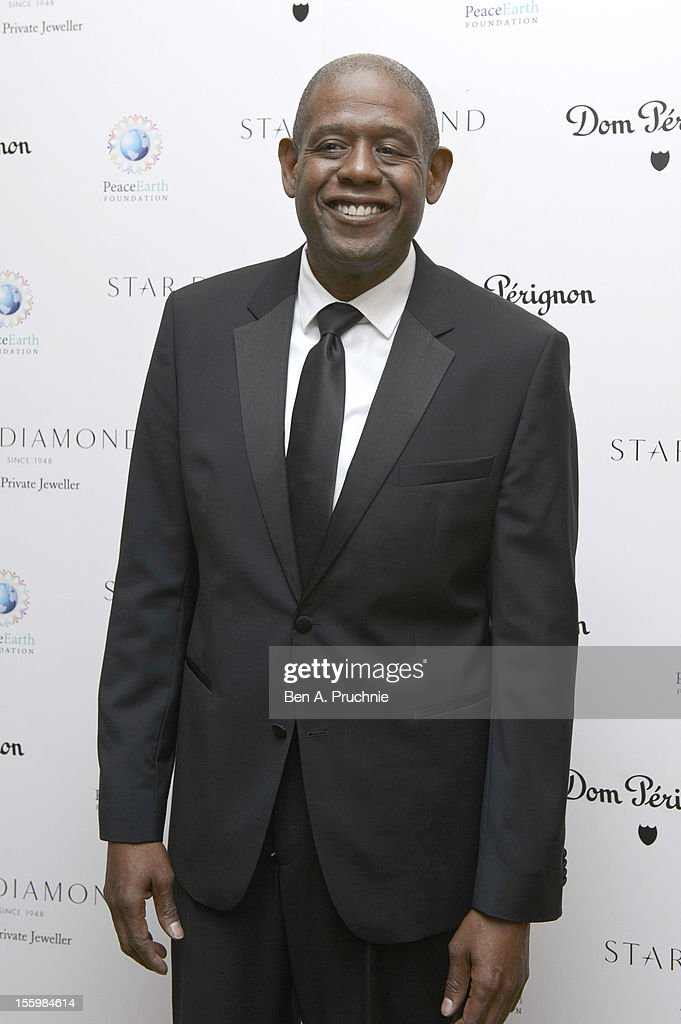 <a gi-track='captionPersonalityLinkClicked' href=/galleries/search?phrase=Forest+Whitaker&family=editorial&specificpeople=226590 ng-click='$event.stopPropagation()'>Forest Whitaker</a> attends the PeaceEarth foundation fundraising gala at Banqueting House on November 10, 2012 in London, England.