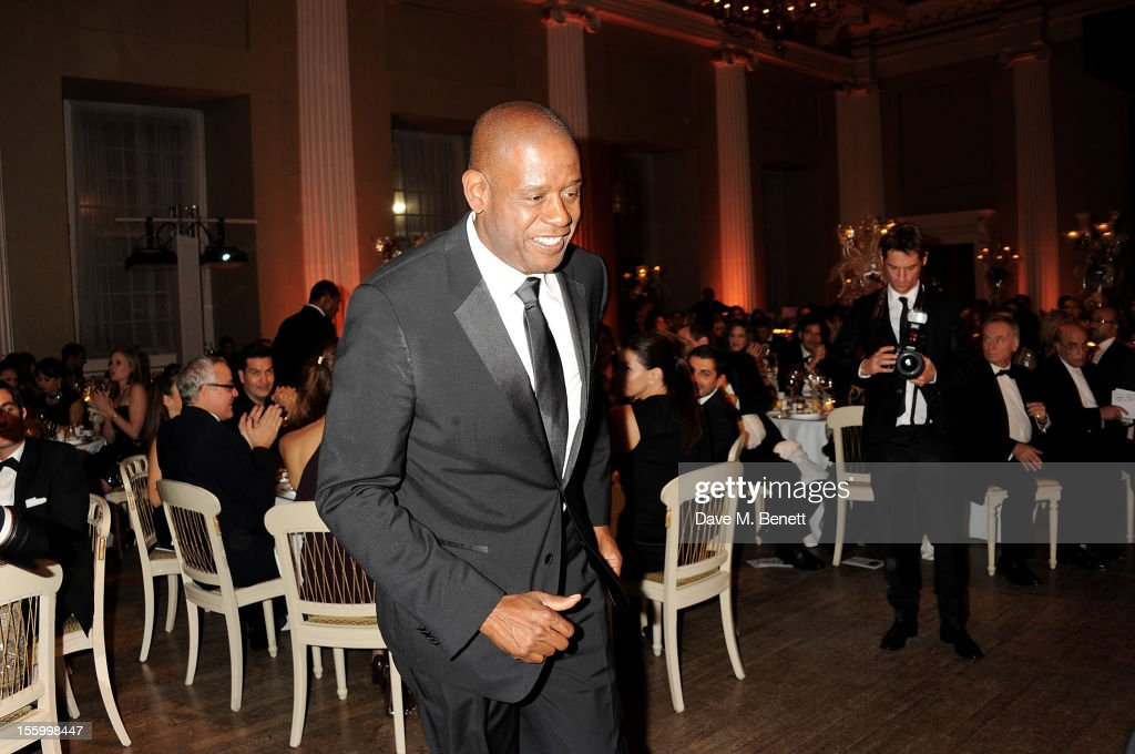 <a gi-track='captionPersonalityLinkClicked' href=/galleries/search?phrase=Forest+Whitaker&family=editorial&specificpeople=226590 ng-click='$event.stopPropagation()'>Forest Whitaker</a> attends the Place For Peace dinner co-hosted by Ella Krasner and <a gi-track='captionPersonalityLinkClicked' href=/galleries/search?phrase=Forest+Whitaker&family=editorial&specificpeople=226590 ng-click='$event.stopPropagation()'>Forest Whitaker</a> to support the Peace Earth Foundation in association with Star Diamond at Banqueting House on November 10, 2012 in London, England.