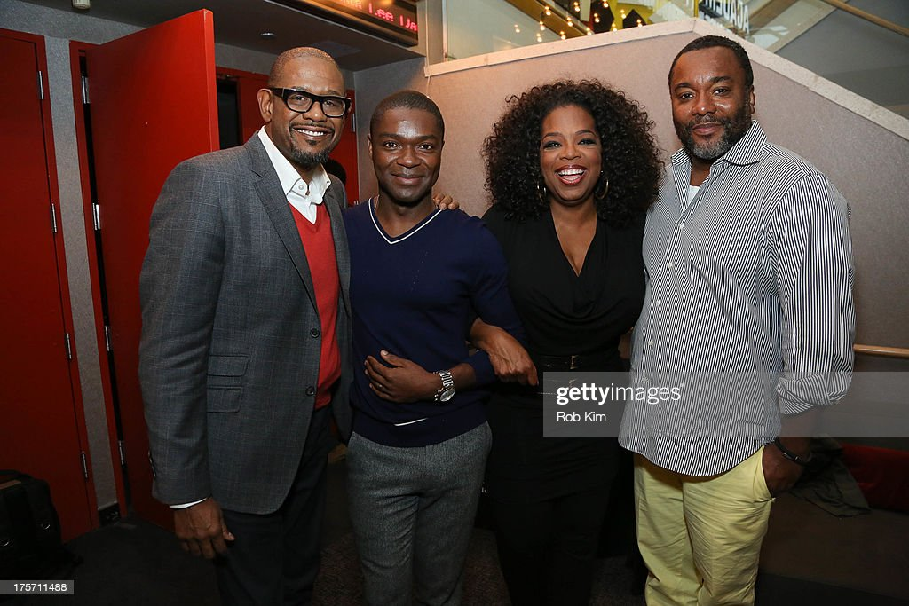 <a gi-track='captionPersonalityLinkClicked' href=/galleries/search?phrase=Forest+Whitaker&family=editorial&specificpeople=226590 ng-click='$event.stopPropagation()'>Forest Whitaker</a>, <a gi-track='captionPersonalityLinkClicked' href=/galleries/search?phrase=David+Oyelowo&family=editorial&specificpeople=633075 ng-click='$event.stopPropagation()'>David Oyelowo</a>, <a gi-track='captionPersonalityLinkClicked' href=/galleries/search?phrase=Oprah+Winfrey&family=editorial&specificpeople=171750 ng-click='$event.stopPropagation()'>Oprah Winfrey</a> and <a gi-track='captionPersonalityLinkClicked' href=/galleries/search?phrase=Lee+Daniels&family=editorial&specificpeople=209078 ng-click='$event.stopPropagation()'>Lee Daniels</a> attend The Academy of Motion Picture Arts and Sciences hosts an official Academy member screening of <a gi-track='captionPersonalityLinkClicked' href=/galleries/search?phrase=Lee+Daniels&family=editorial&specificpeople=209078 ng-click='$event.stopPropagation()'>Lee Daniels</a>' 'The Butler' at The Academy Theater, at Lighthouse International on August 6, 2013 in New York City.