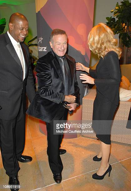 Forest Whitaker Robin Williams and Bonnie Hunt during Hollywood Film Festival 10th Annual Hollywood Awards After Party at Beverly Hilton in Hollywood...