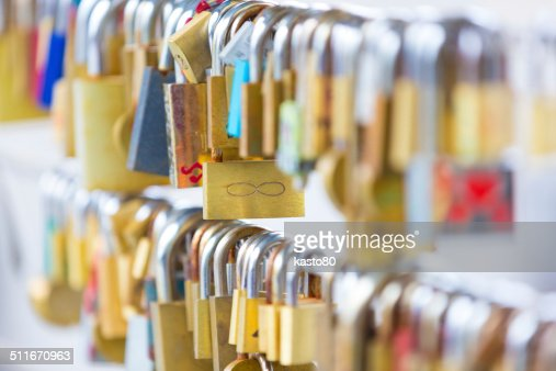 Forever love lockers. : Stock Photo