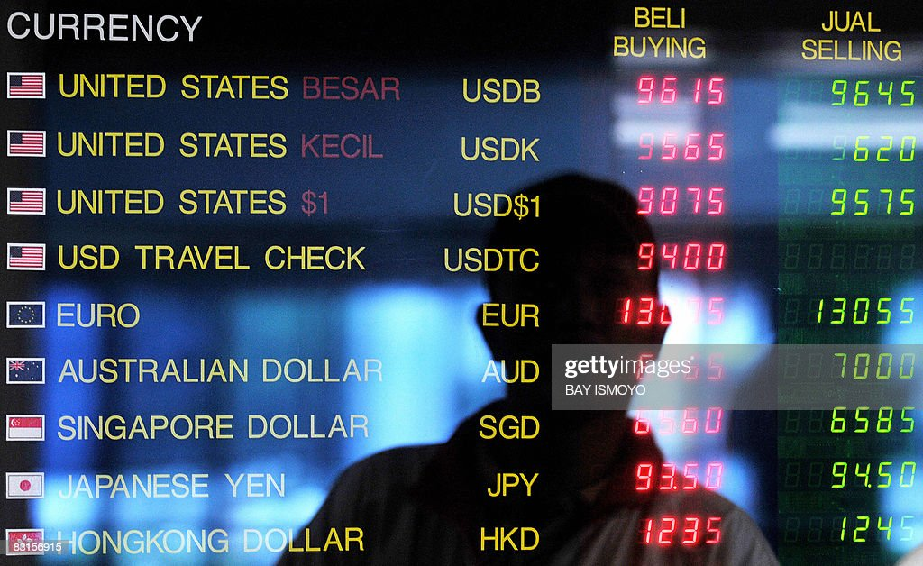 A forex rate board shows the Indonesian rupiah getting lower in Jakarta on October 07 2008 Indonesian President Susilo Bambang Yudhoyono said there...