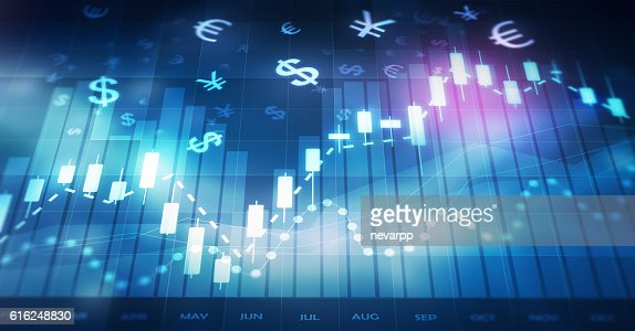 forex trading chart : Foto de stock