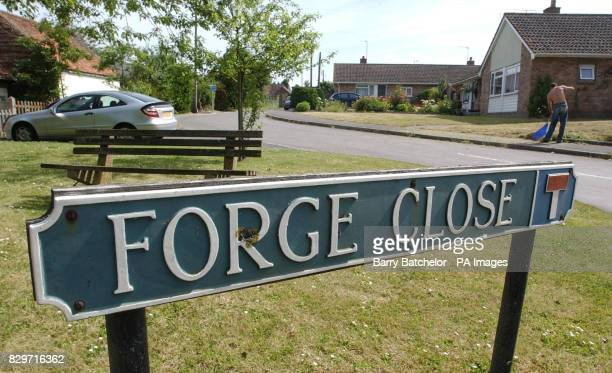 Forge Close South Newton near Wilton in Wiltshire the road where underworld boss Kenneth Regan lived who was convicted at the Old Bailey of murdering...