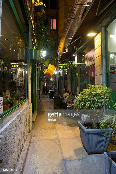 PLATES 'Forget Paris' Episode 102 Pictured Restaurant corridor in Lyon France in 2011