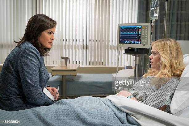 UNIT 'Forgiving Rollins' Episode 1611 Pictured Mariska Hargitay as Detective Olivia Benson Dreama Walker as Reese Michel