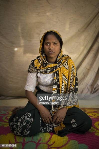 COX'S BAZAR BANGLADESH FEBRUARY 20 Forida Afroz one of the women who were raped by Myanmar armed forces members takes shelter at Leda unregistered...