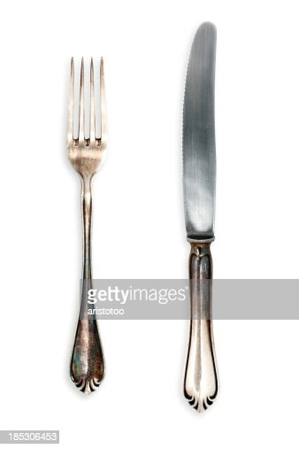 Fork and Knife, Isolated on White