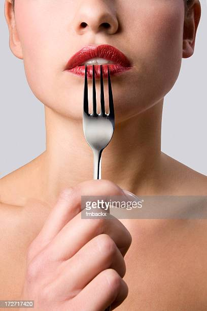 Fork and lips
