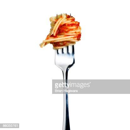 Fork and spaghetti