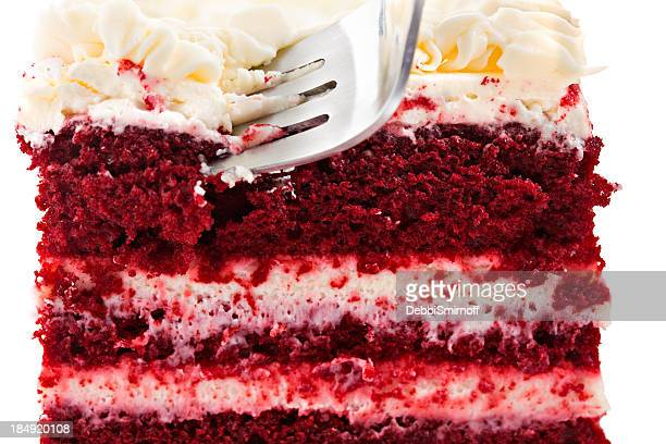 Fork In Red Velvet Cake Slice