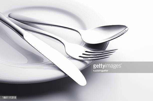 Fork knife and spoon set