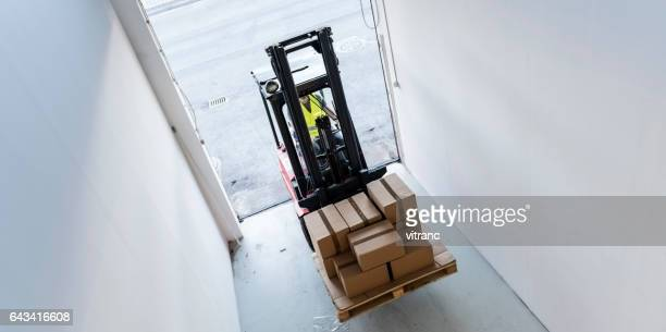 Fork lift truck driver