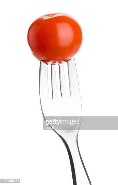 Fork with Cherry Tomato
