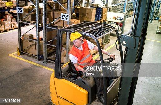 forklift operator at warehouse Loading, lifting