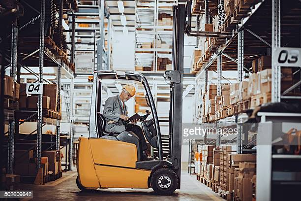forklift operator at warehouse
