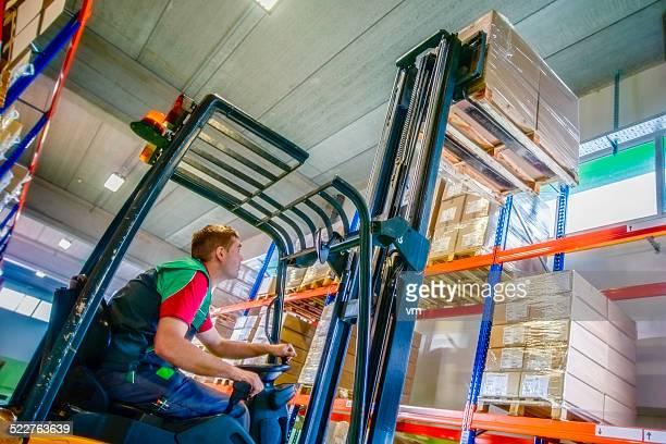 Forklift Operator Loading a Pallet