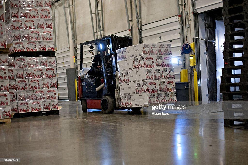 Inside a liquor distribution warehouse ahead of business for Census bureau title 13