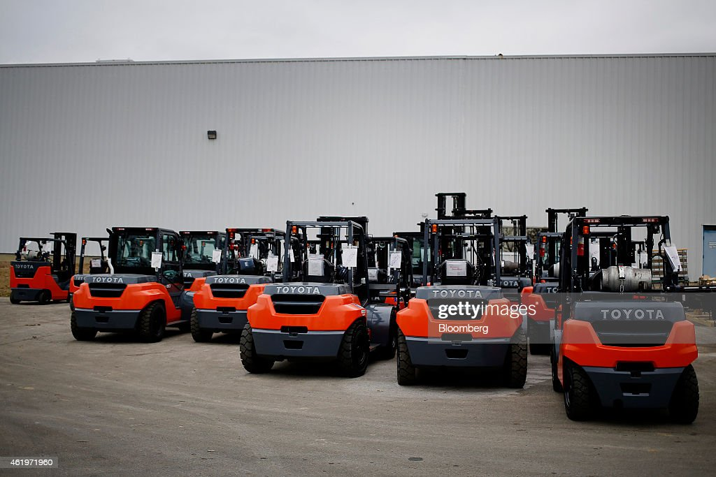 Forklift Production At A Toyota Industrial Equipment Plant