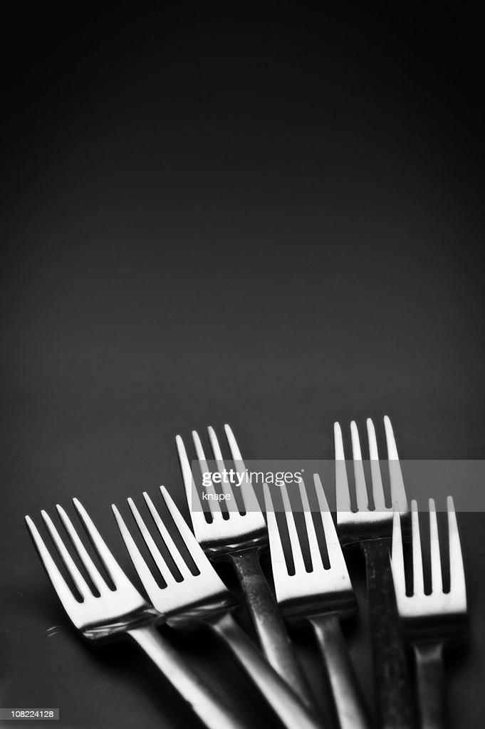 Forks, Grey Background : Stock Photo
