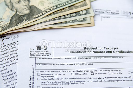 W9 Form Request For Taxpayer Indentification Number Certification