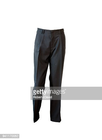 formal dark blue ironing pants : Stock Photo