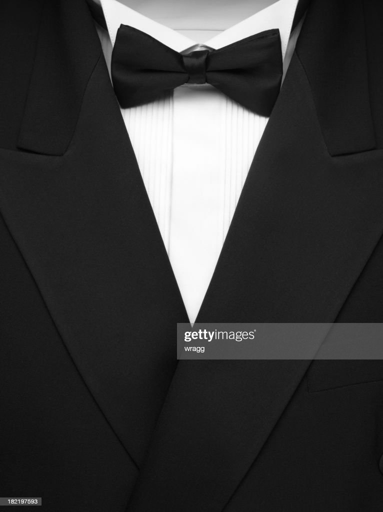 Formal Dinner Jacket and Bow Tie : Stock Photo