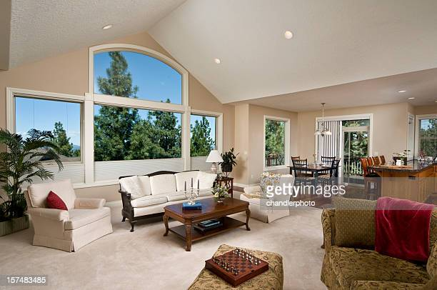 Formal livingroom with arched windows