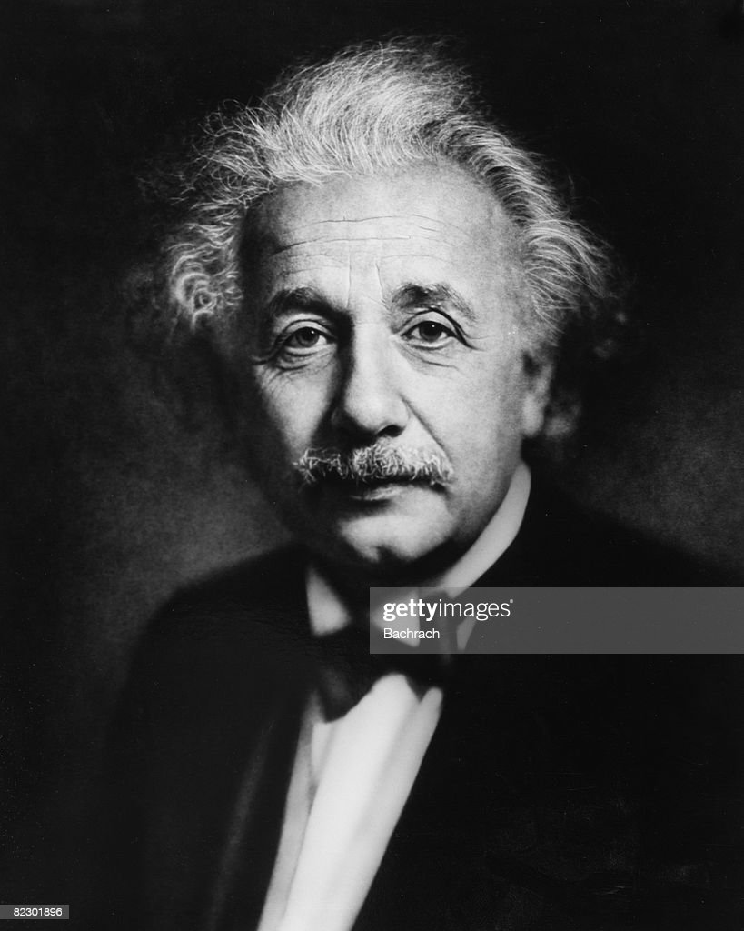 Formal portrait of German (and later Swiss and American) theoretical physicist <a gi-track='captionPersonalityLinkClicked' href=/galleries/search?phrase=Albert+Einstein&family=editorial&specificpeople=70023 ng-click='$event.stopPropagation()'>Albert Einstein</a> (1879 - 1955) in formalwear with a black bow tie, Philadelphia, 1936.
